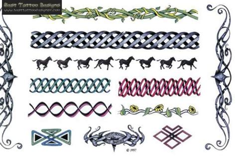 tribal bracelet tattoo designs band images designs