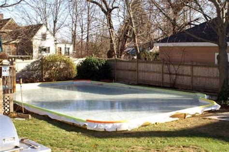 backyard ice rink tarps backyard ice rink