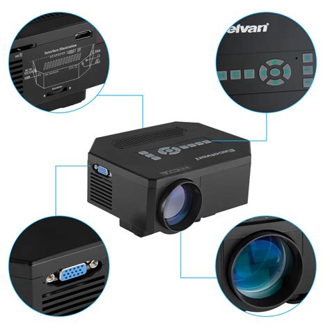 mini projector for android multimedia home theater portable mini led projector hdmi for ios android mobile ebay