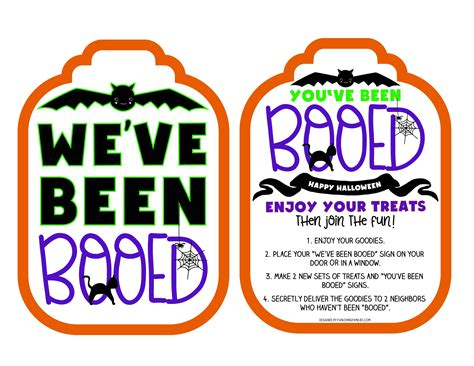 You Ve Been Booed Printable