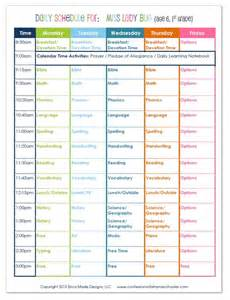 2015 1st grade homeschool schedule confessions of a