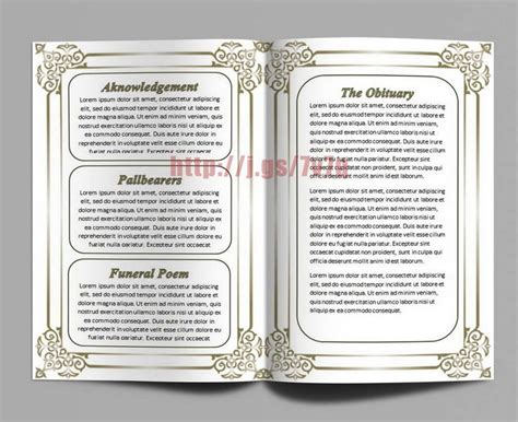 free editable funeral program template editable funeral memorial program template with the