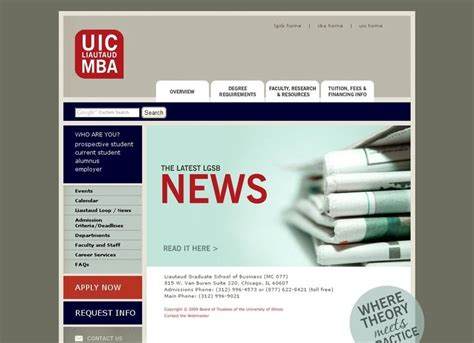 Chicago Part Time Mba Cost by Of Illinois Chicago Liautaud Graduate School Of