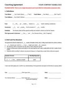 coaching agreement contract template sample coaching