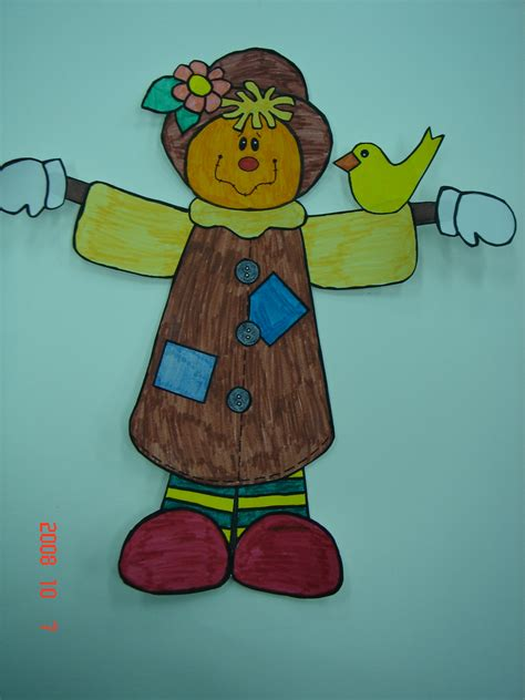 Dltk Paper Crafts - dltk scarecrow crafts