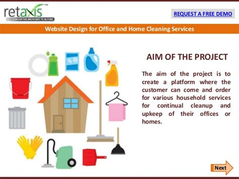 home cleaning services website design for office and home cleaning services