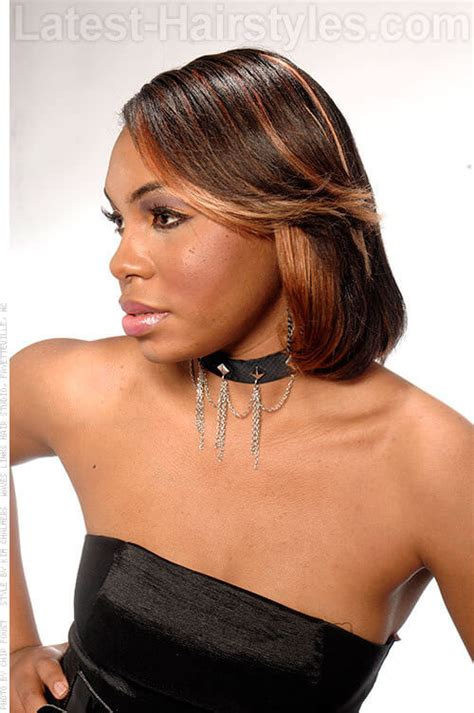 bob hairstyle with peek a boo highlights 20 african american hairstyles to get you noticed