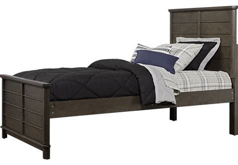 twin boy bed bay street charcoal 3 pc twin panel bed beds colors