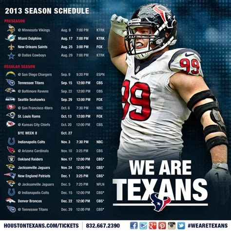 houston texans 2013 schedule sportshoopla sports forums