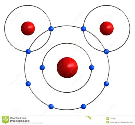 diagram of water molecule molecular structure of water stock photography image