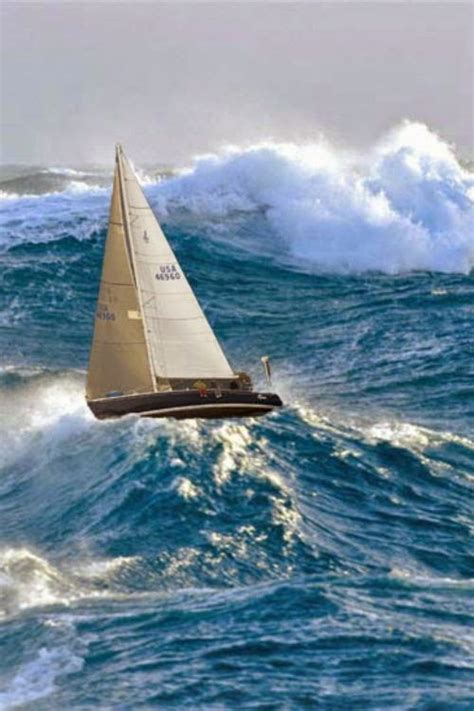 sailboat in storm sailing adventure nautical handcrafted decor blog