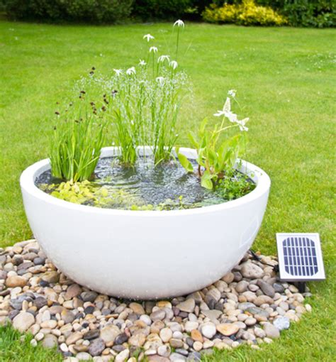 Planter Pond by Solar Powered Pond In A Pot Kit With 72cm White Planter