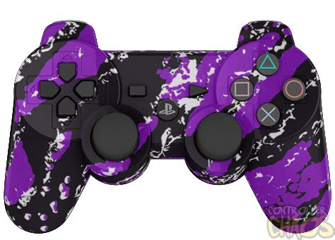 Ps4 Steep Reg 3 By Skygamez purple splatter ps3 modded controller