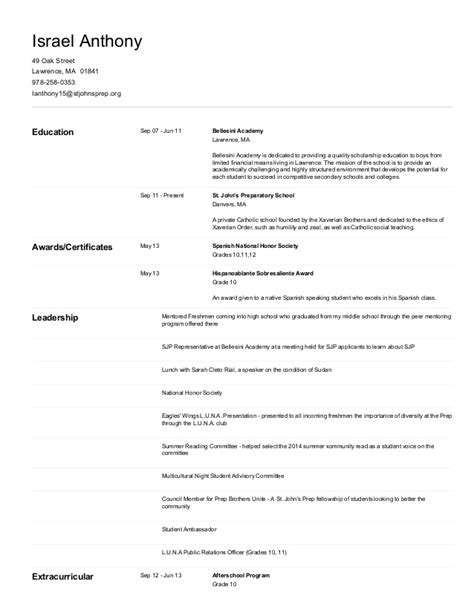 Naviance Resume by Naviance Resume Resume Ideas