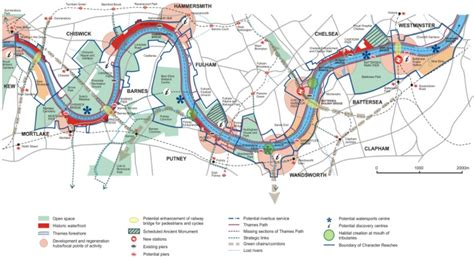 river thames attractions map thames strategy kew to chelsea visitor map