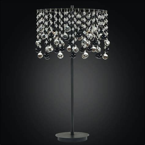 Crystal Bead Table L With Black And Clear Crystal