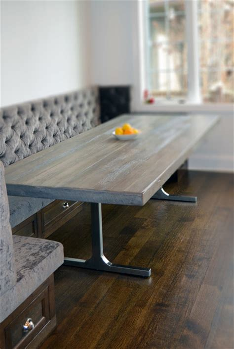 Grey Reclaimed Wood Dining Table Reclaimed Wood Rustic Grey Modern Dining Table Rustic Chicago By Abodeacious