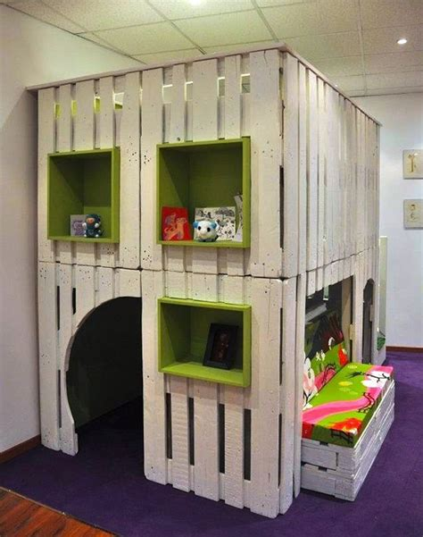 indoor playhouse kids playhouse from wooden pallets pallet wood projects