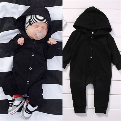 Sleeve Ctr 5in1 9 Month 1 toddler infant newborn baby boy clothing romper sleeve black jumpsuit playsuit clothes