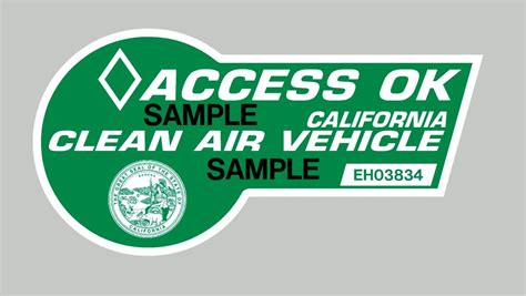 Hov Sticker california s green hov stickers available again