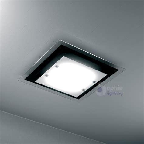 plafoniere bagno moderne plafoniera soffitto quadrata design moderno 45 cm vetro