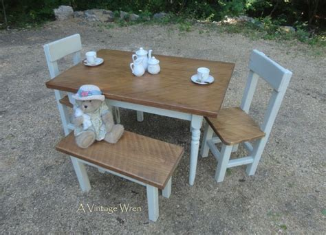 child size bench a child size farm table chair and bench set made by our 13