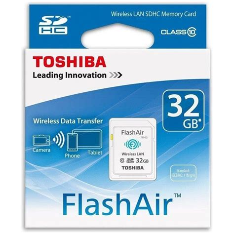 Memory Card Flash Air toshiba flash air wireless sd card class 10 32gb thn nw03w0320c6 white jakartanotebook