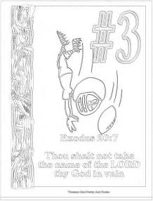 10 commandments coloring page children s gems in my treasure box the big ten ten