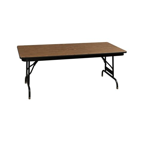 Adjustable Height Folding Table Heavy Duty Used Folding Table 24 215 48 Walnut National Office Interiors And Liquidators