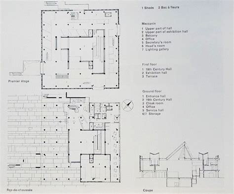 Yale University Art Gallery Floor Plan by Western Art Museum Ueno Park Le Corbusier Floor Plans