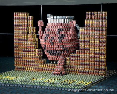 canstruction design plans canned food sculpture contest ideas cooler than can