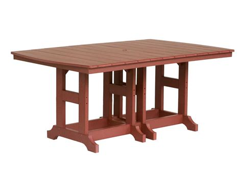 Rectangular Table L 72 Quot L X 44 Quot W Garden Classic Iris Poly Lumber Rectangular Table