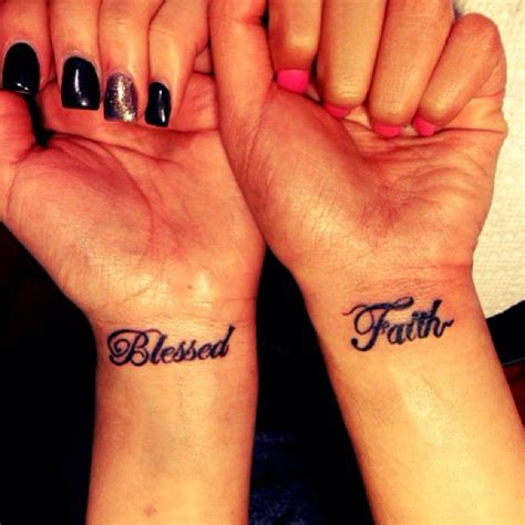 blessed wrist tattoos best friends blessed faith tattoos for tattooshunt