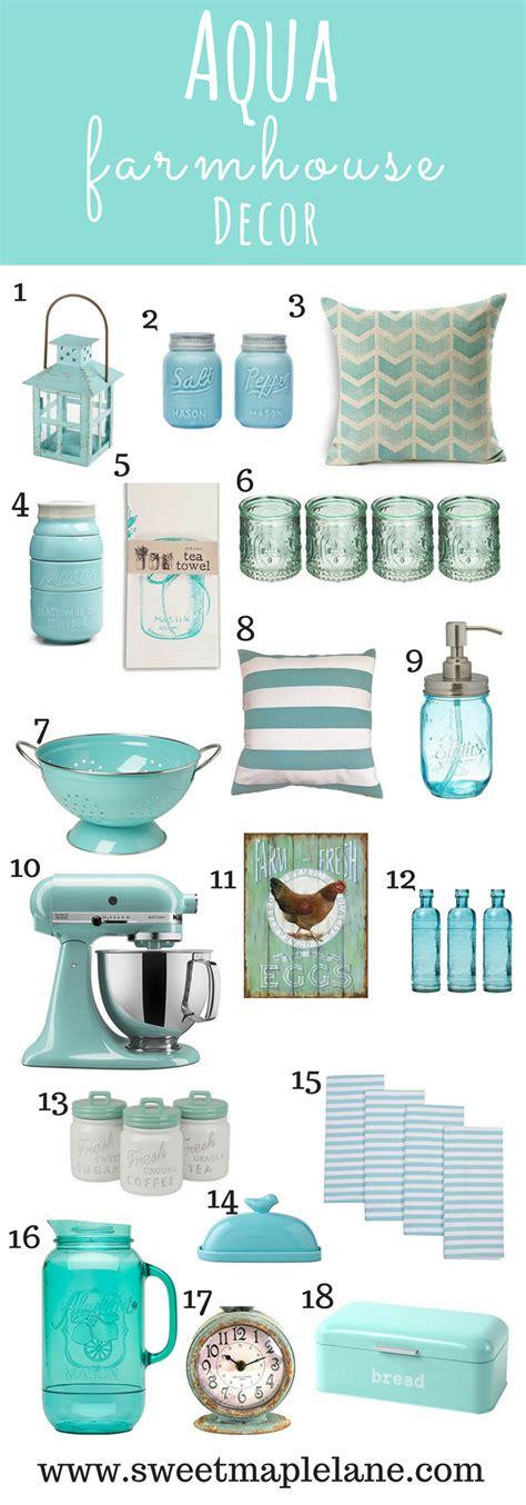 turquoise home decor accents farmhouse style aqua decor aqua decorating and house