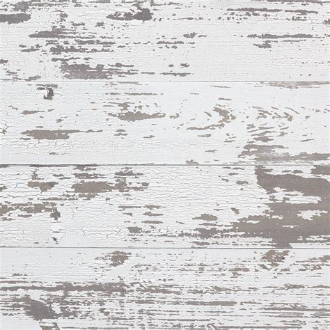 Timeline Wood 11/32 in. x 5.5 in. x 47.5 in. Distressed White Wood Panels (6 Pack) 00955   The