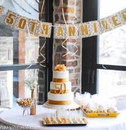 golden 50th anniversary party ideas kate aspen blog