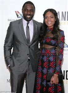 Idris Elba Shower by Naomie Harris Shows Off Toned Tummy In Sheer Dress While