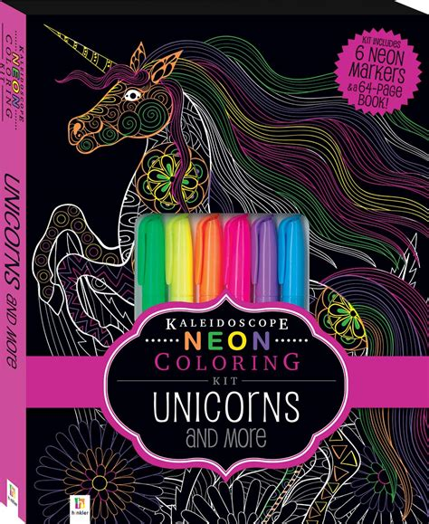 coloring kit kaleidoscope neon coloring kit with 6 highlighters