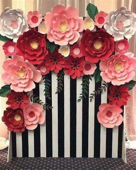tutorial bunga dari kertas warna idea dekorasi majlis dengan hiasan bunga kelopak besar