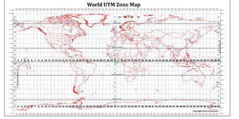 utm map utm zones map of the world