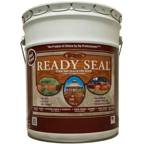 outdoor furniture stain and sealer ready seal 5 gal golden pine exterior wood stain and sealer 510 the home depot