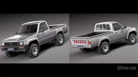 Toyota 1989 Models 3d Model Toyota Hilux Regular Cab 1989 1997