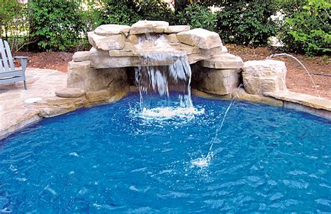 rock waterfalls for pools rock waterfalls blue haven custom swimming pool and spa