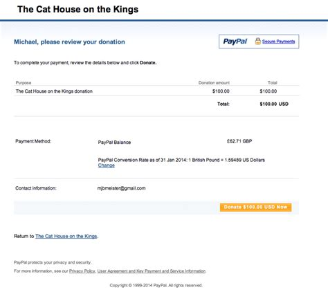 the cat house on the kings donation to the cat house on the kings