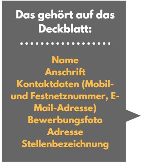 Bewerbung Deckblatt Oder Nicht Deckblatt Bewerbung 9 Sch 246 Ne Muster Vorlagen