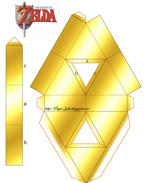 Triforce Papercraft - triforce cree par ryo007 texture degradee gold