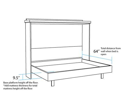 murphy bed plans pdf wooden horizontal murphy bed plans diy blueprints