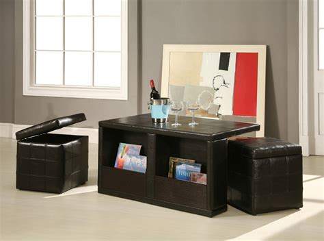 Table With Storage Stools by Coffee Table With Stools Design Images Photos Pictures