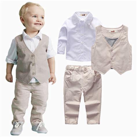 Boyset Minijeans aliexpress buy 2015 boys clothing sets autumn shirt vest boys wedding