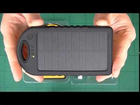 V Powerbank 5000mah V503 Black solar charger 5000mah 12000mah dual usb resistant